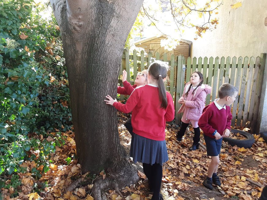 Look at us having great fun on our bug hunt!