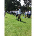 Children in an egg and spoon race