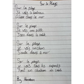 Poem written by a year 6 child
