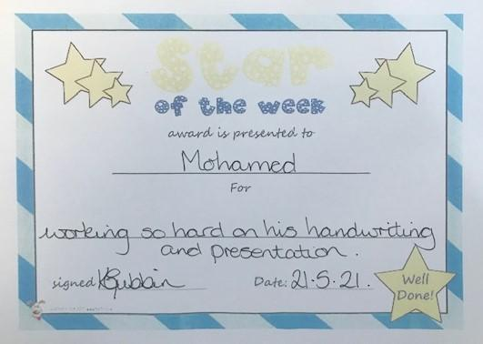 4E M star of the week