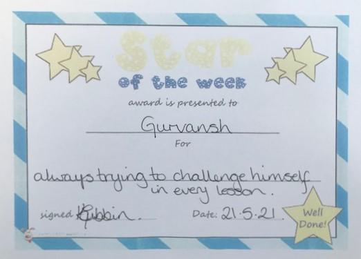 5R star of the week