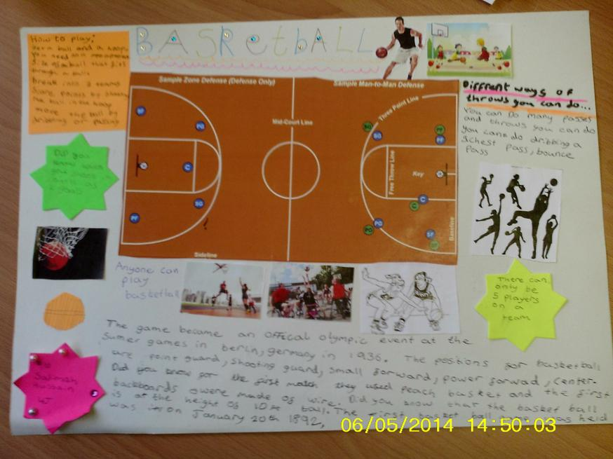 CHILDS MADE SPORTS INFORMATION POSTER