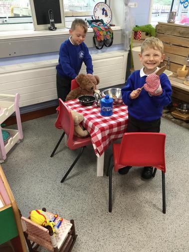 In our story the three bears ate cookies instead of porridge.