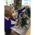 We had so much fun decorating the Christmas trees