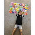 Jude's finished puzzle
