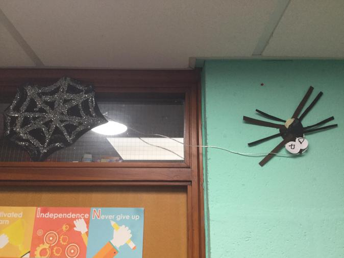 We created our own spider artwork.