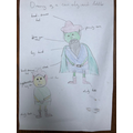 Isabella's diagram of the Elf and toddler.