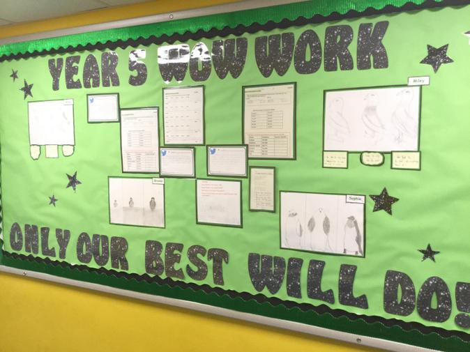 Examples of our numeracy and some of our art work this term.