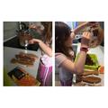 Creating goodies using Fairtrade chocolate! Yum!
