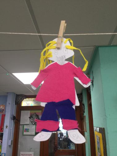 We made our own Goldilocks puppets