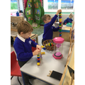 2 minute challenge - who can build the tallest tower?