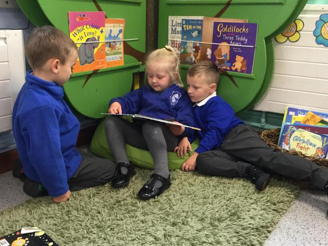 We enjoyed sharing a story with our friends