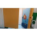 The toilets are in the classroom