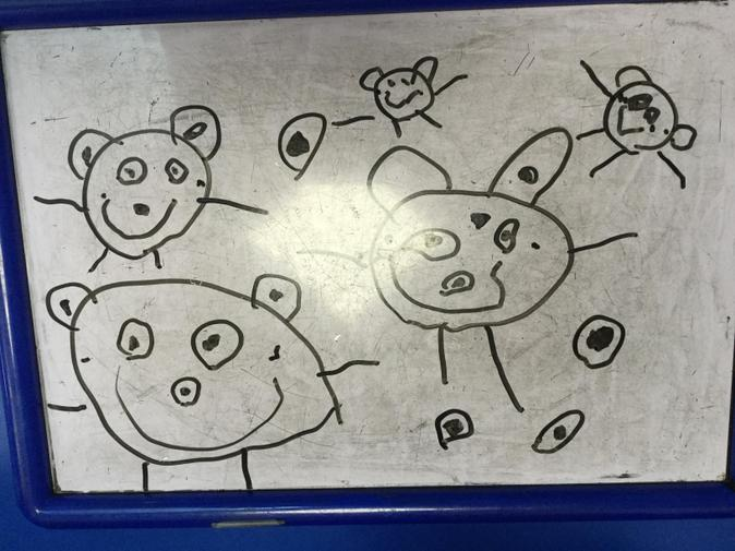 Our drawings of the three bears!