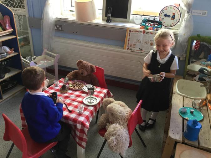 We had lots of fun playing 'Goldilocks' in the kitchen