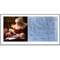 Santa is reading his first letter - thank you Jessica!
