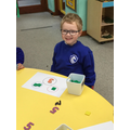 We used the part-whole model to complete addition number sentences
