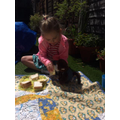 Aggie and Monkey enjoyed a picnic