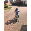 Keon learnt to ride his bike!