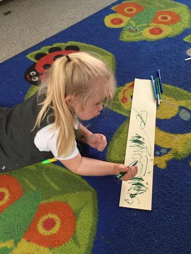 We enjoyed mark making