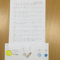 The Solar system with information about the planets.