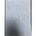 Isabella's Elf writing.
