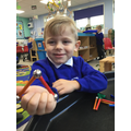 Making 2D shapes using the magnetic sticks