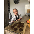 Sophie made chocolate cookies