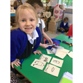 We used card to create our own good sitting cue cards...