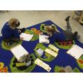 Practising our name writing