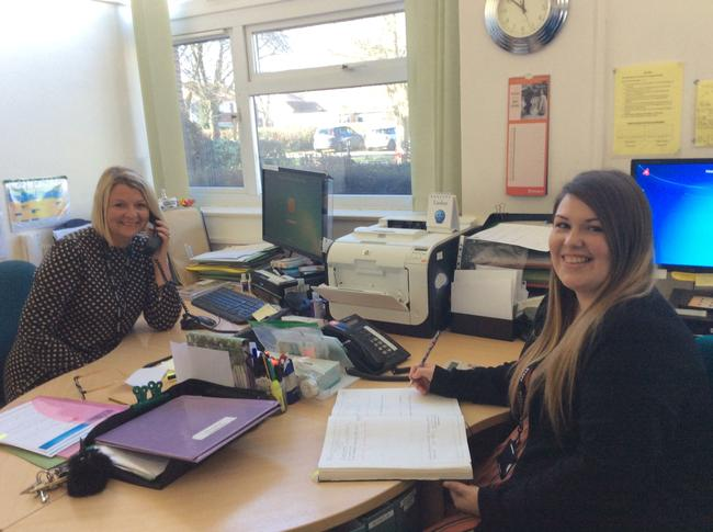 The School Office - Mrs L Young and Miss R Bower