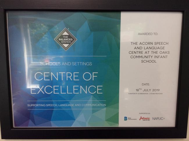 Centre of Excellence for supporting SLCN with The Oaks Infant School