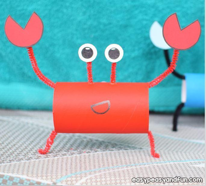 Toilet Roll Crab