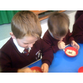 The warm porridge made the chocolate melt.