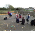 We have been doing some maths learning outside.