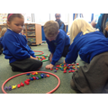 In maths, we have been sorting objects into groups