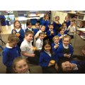 Everyone enjoyed trying the banana split!