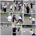 We enjoyed lots of outdoor activities including archery, basketball and tennis!