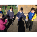 We went on a treasure hunt looking for clues.