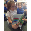 Mya has read her favourite book with Daisy.