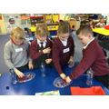 Filling our magnetic bottle  shaker.