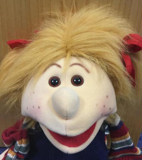 Our puppet before she was made over!