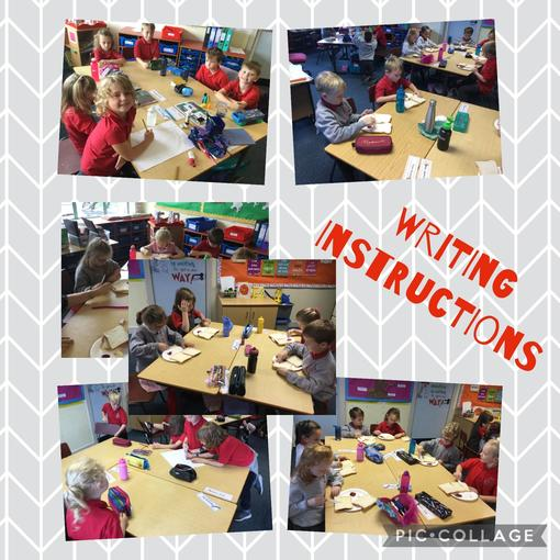 We have been learning how to write instructions.