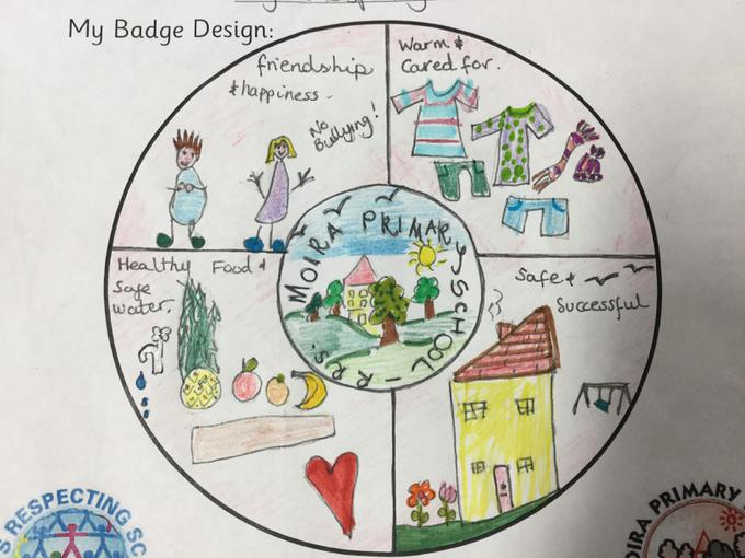 The winning badge design by Carolyn McNeil