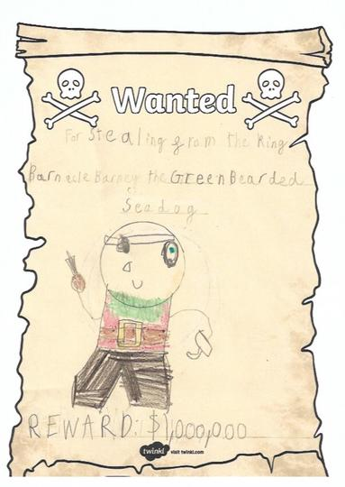 Oliver's wanted poster.