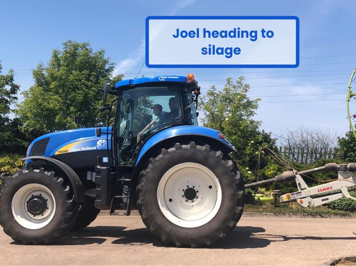 Joel has been busy with the silage!