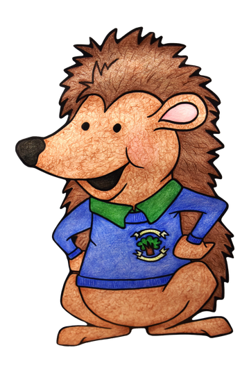 Hugo our school mascot