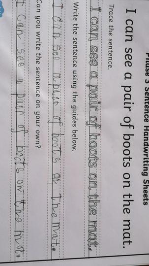 Luke's best handwriting ever!