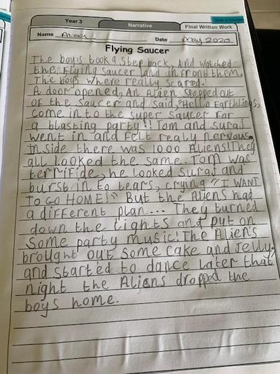 Alisa's alien story.