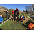 creating their own structures for play